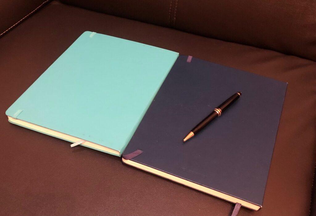 モレスキンのノート2冊